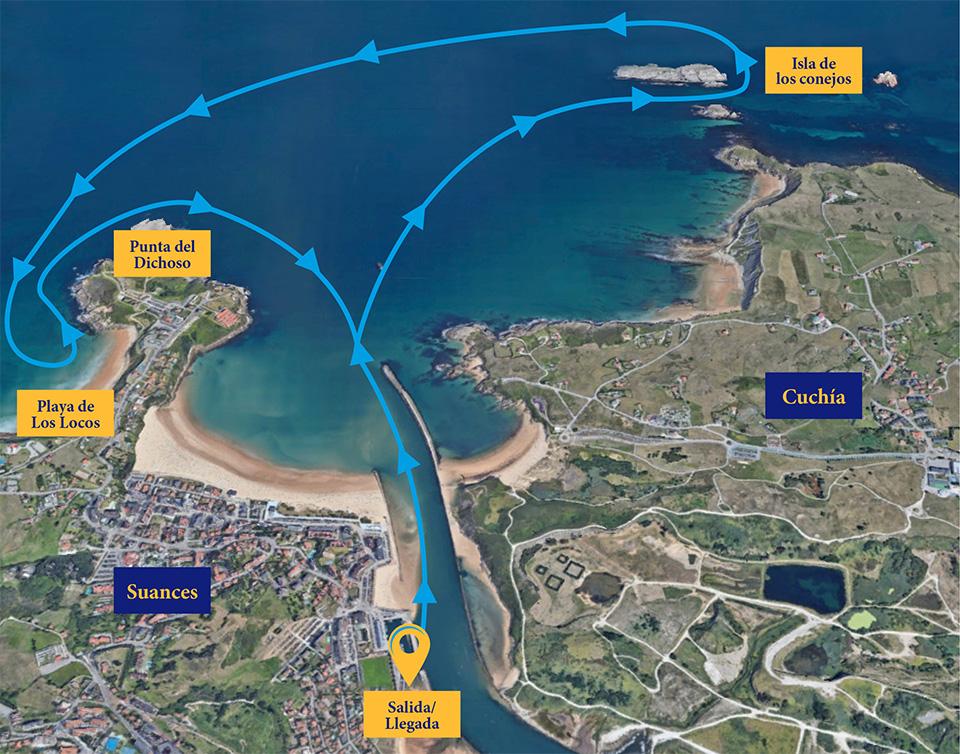 Ruta de la costa - Paseo en barco por Suances